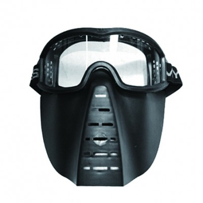 Skirmish Mask with Clear Lens Black (E091P-B)